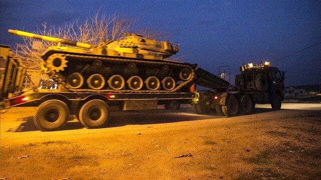 5 tank yüklü TIR konvoyu, Hatay'ın Reyhanlı ilçesine geldi.