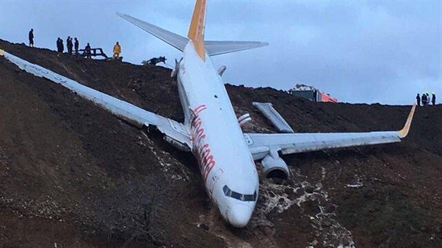 Pegasus Havayolları'nın Ankara-Trabzon seferini yapan uçağı, Trabzon Havalimanı'na inişi sırasında pistten çıktı.