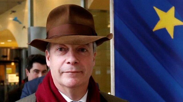 File Photo: Brexit campaigner Nigel Farage leaves a meeting with European Union's chief Brexit negotiator Michel Barnier (unseen) at the EU Commission headquarters in Brussels, Belgium, January 8, 2018.