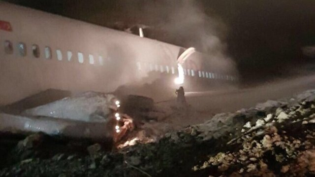 Trabzon Havalimanı'nda uçak pistten çıktı