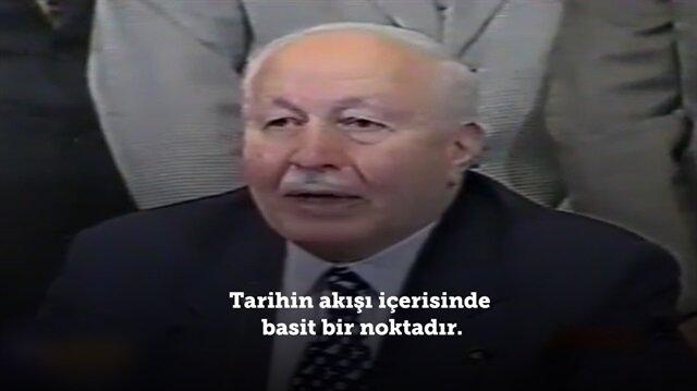 Refah Partisi'nin kapatılmasına Erbakan'ın verdiği tarihi cevap!