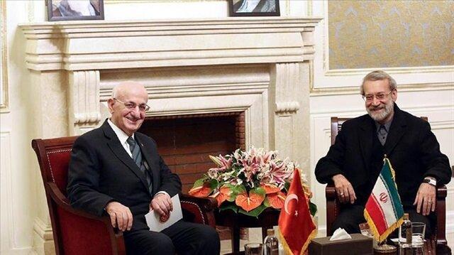 Turkish parliament speaker meets Iranian counterpart