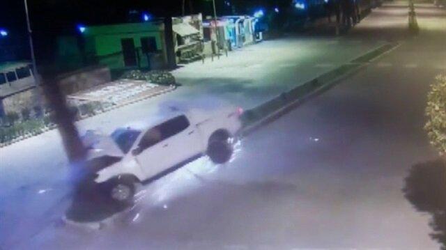Alkollü sürücünün feci kazası kamerada