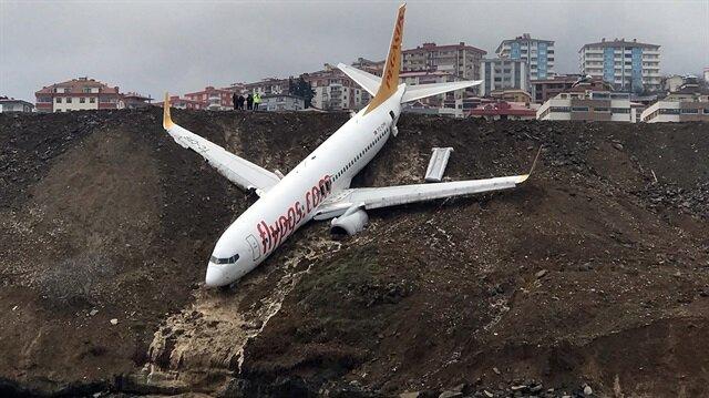 Trabzon'da pisten çıkan uçak 'Reverse' arızası mı verdi?