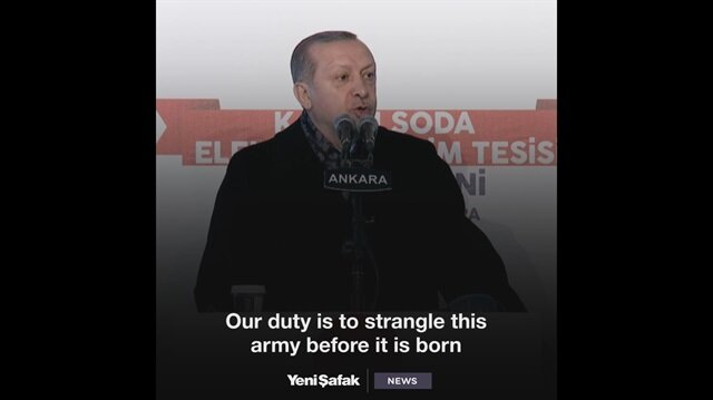 Erdoğan: Operations will continue until not a single terrorist remains on our borders