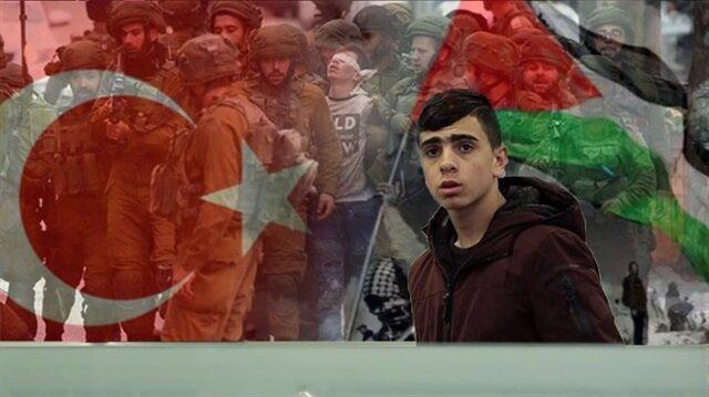 """وصول الطفل الفلسطيني """"الجنيدي"""" إلى إسطنبول بدعوة من رئيس بلديتها"""