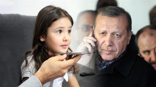 Erdoğan, minik Irmak'ı telefonla arayarak Külliye'ye davet etti