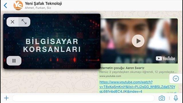 Whatsapp'ta Youtube videoları oynatılabilecek
