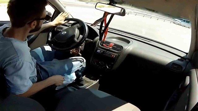 Müşterinin aracıyla drift yaparken kaza yapan tamirci