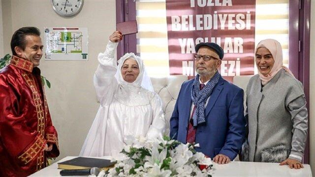 حفلة زفافهما بعد 62 عامًا من الزواج.. تعرّف على قصة زوجين تركيين