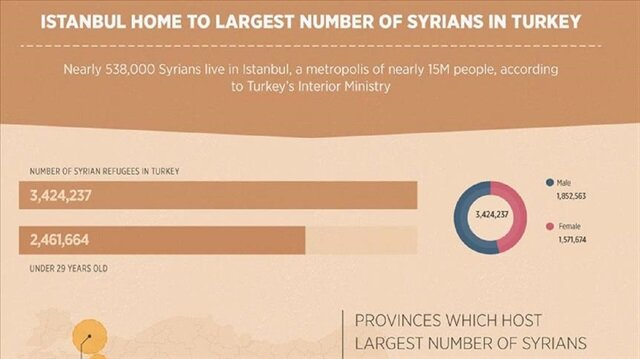 Istanbul home to largest number of Syrians in Turkey