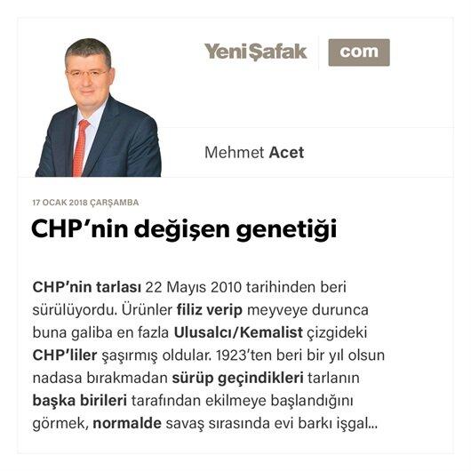CHP'nin değişen genetiği