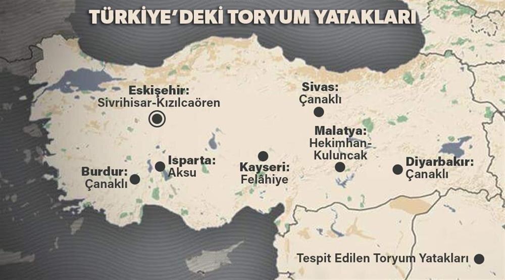 Türkiye'deki toryum yatakları ( İnfografik: Emir Ece )