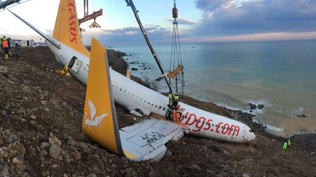 Trabzon'da pisten çıkan uçağı kurtarma maliyeti belli oldu