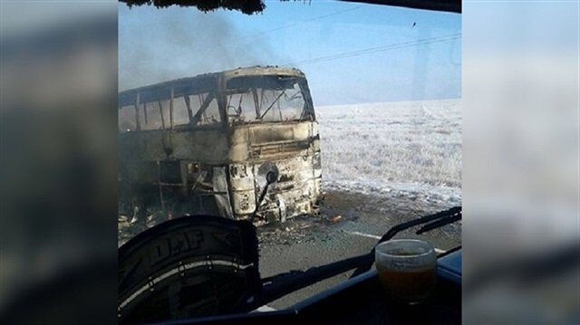 Bus catches fire in Kazakhstan, killing 52