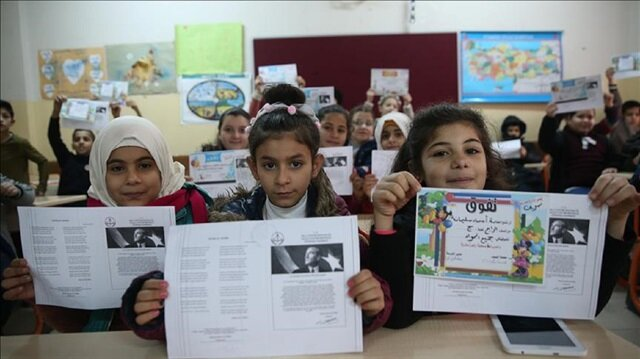 Syrian students in Turkey obtain mid-term report cards