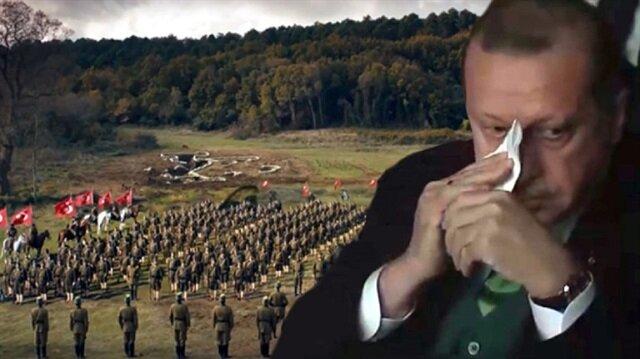 Mehmetçik Kut'ül Amare'de Cumhurbaşkanı Erdoğan'ı ağlatan sahne