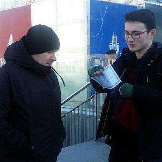 Teşekkür belgesi alan öğrenci Taksim'e çıkıp harçlık istedi