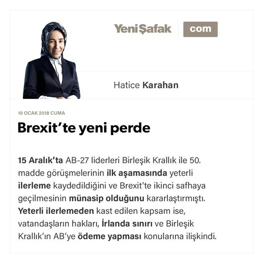 Brexit'te yeni perde