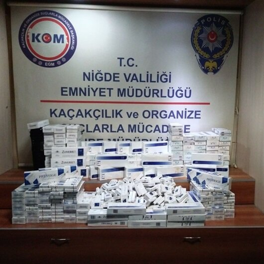 Niğde'de 4 bin 100 paket kaçak sigara ele geçirildi