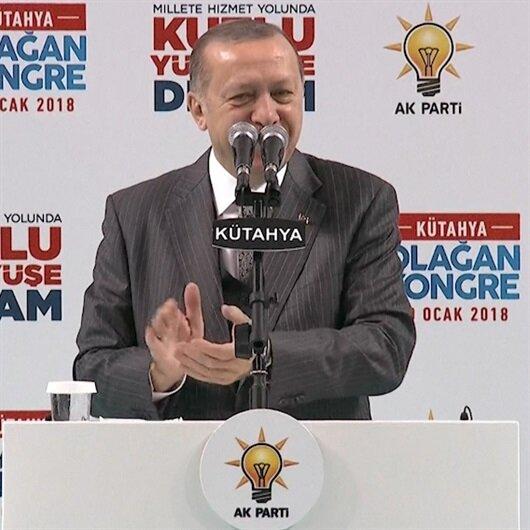 Bu kez Erdoğan salonu alkışladı