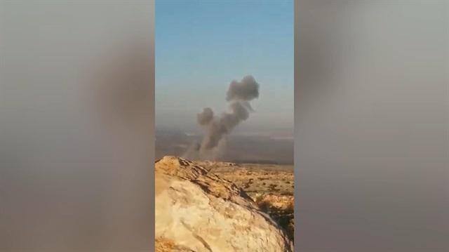 Türk savaş uçakları Afrin'de PYD/PKK mevzilerini bombalıyor