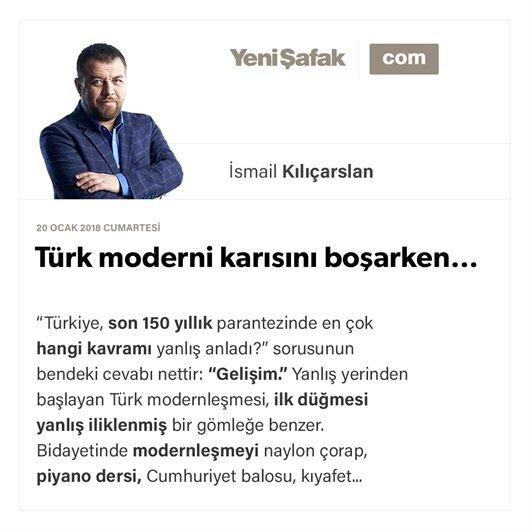 Türk moderni karısını boşarken…