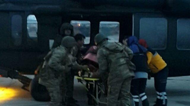 مروحية عسكرية تركية تسعف