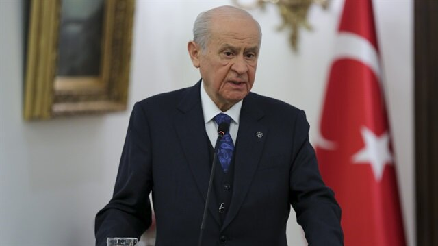 Turkey's Nationalist Movement Party's (MHP) Leader Devlet Bahceli