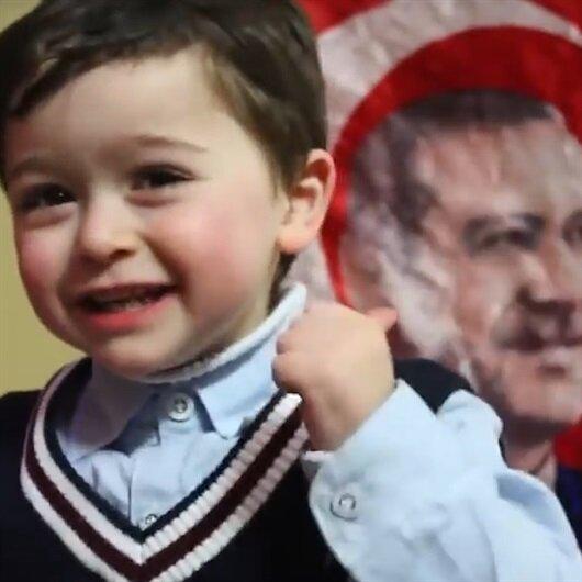 Filistinli küçük Ziyad'dan liderlere 'Erdoğan' çağrısı