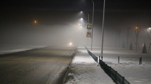 Ardahan ve Kars'ta yoğun sis devam ediyor
