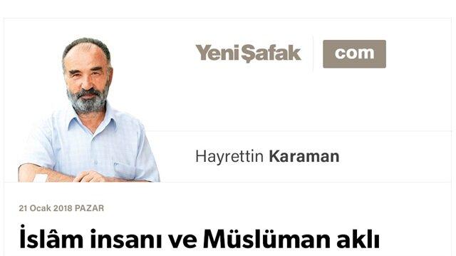 İslâm insanı ve Müslüman aklı