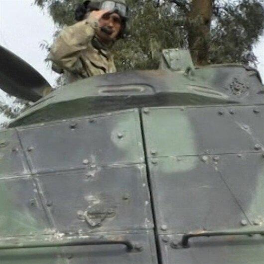 Tanklarımız sloganlar eşliğinde Afrin'e ilerliyor