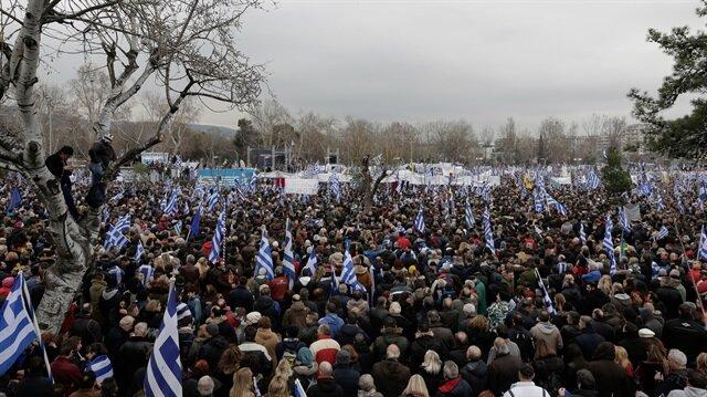 Yunanistan'da 'Makedonya' karşıtı gösteri