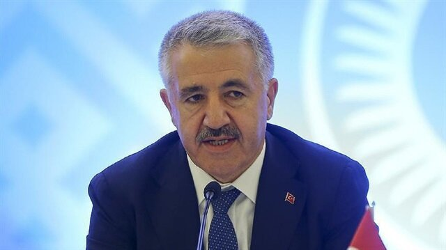 Ahmet Arslan, the Turkish Minister of Transport, Maritime Affairs, and Communications