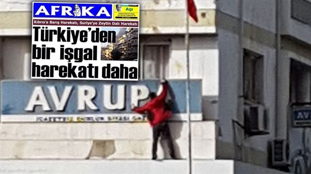 Kıbrıslı Türklerden 'Zeytin Dalı'nı hazmedemeyen gazeteye tepki