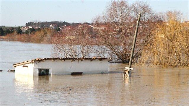 Ergene Nehri'nin debisi yükseldi