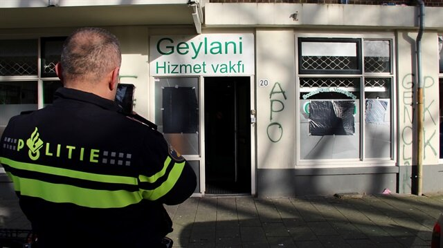 PYD/PKK supporters attack mosque in Netherlands