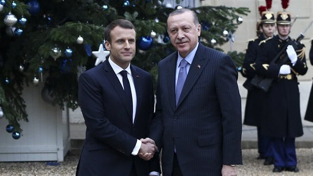 Cumhurbaşkanı Erdoğan Macron ile Afrin'i görüştü