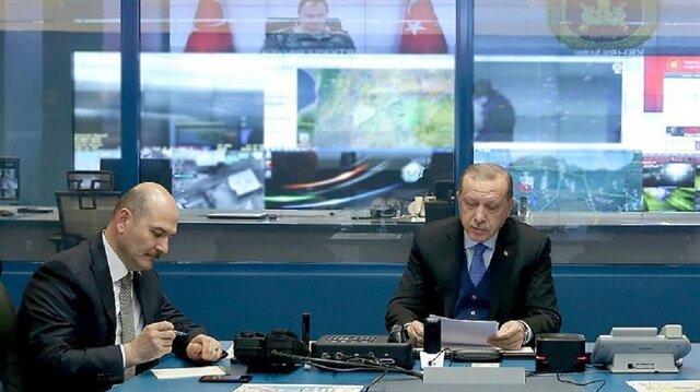 قادة عسكريون يطلعون أردوغان على آخر تطورات عملية