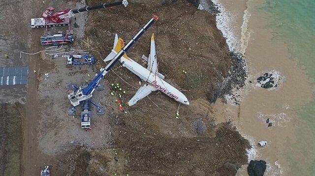 Trabzon'da pistten çıkan uçağın akıbeti belli oldu