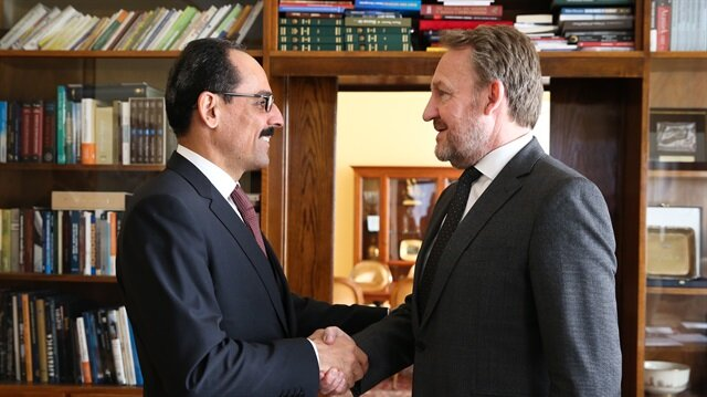 Turkish Presidential Spokesman Ibrahim Kalin meets Bosniak Member of the Presidency of Bosnia and Herzegovina Bakir Izetbegovic in Sarajevo Bosnia and Herzegovina