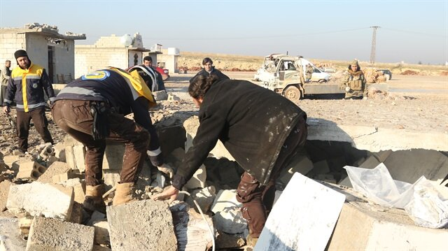Image result for Airstrike kills 11 in Syria's Idlib
