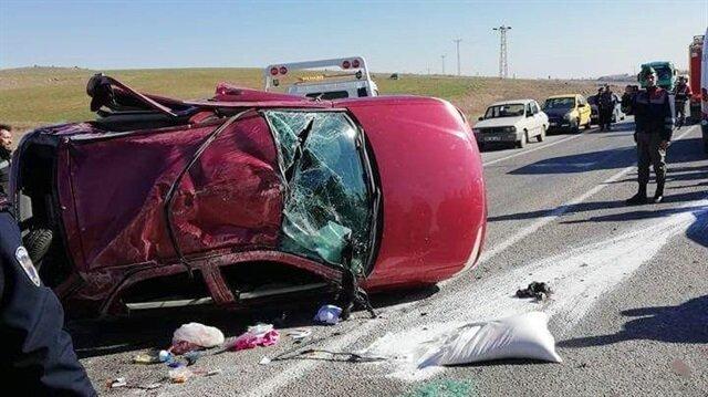 Kırşehir'de meydana gelen trafik kazasında 5 kişi yaralandı