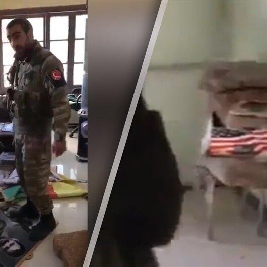 Erdoğan'ın indirin dediği 'ABD bayrağı' Afrin'de böyle bulundu!