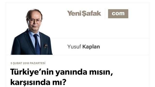 Türkiye'nin yanında mısın, karşısında mı?