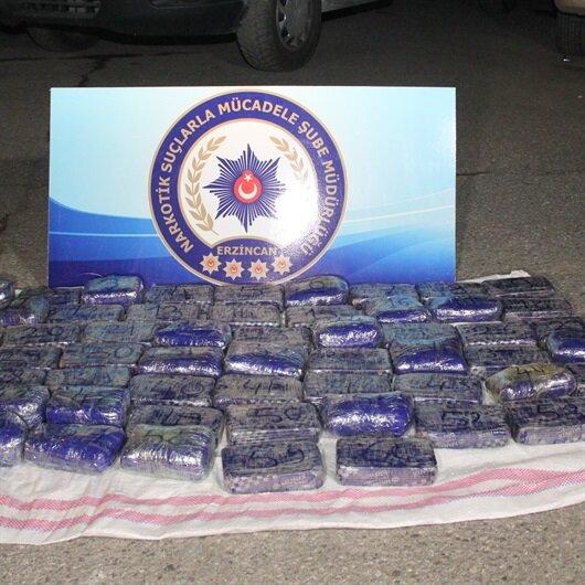 Erzincan'daki uyuşturucu operasyonunda bir kişiye gözaltı
