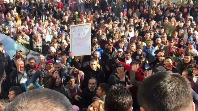 Mahalle halkı emniyete yürüdü: Acılı anne Erdoğan'dan tank istedi