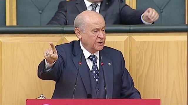 Bahçeli'nin 'Afrin'e giderim' açıklaması salonu ayağa kaldırdı