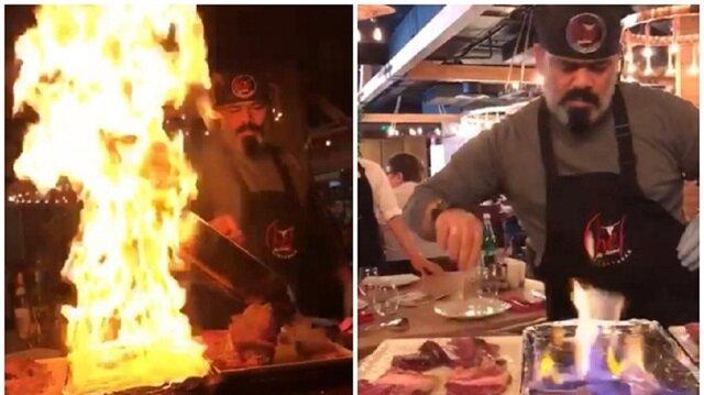 Nusret'e özenen Erdal Şef restoranı yakıyordu!